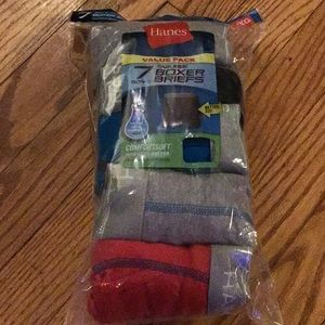 Hanes Tagless boxer briefs. 7 pack